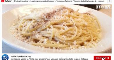"""PIZZA E PASTA TG: Pellegrino Artusi, Pizza a Chicago, Carbonara """"porno"""""""